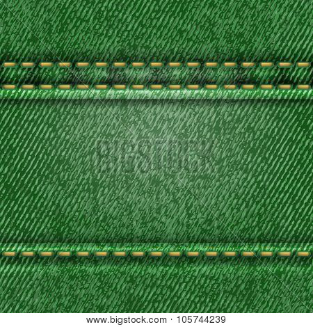 Seamless green jeans texture