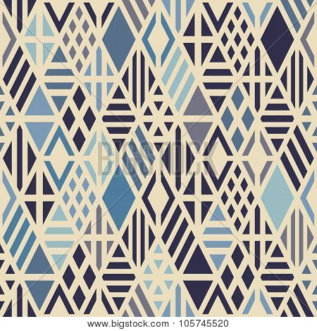 Geometric seamless pattern with rhombuses.