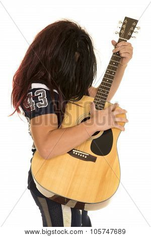 Football Player Long Hair Play Guitar
