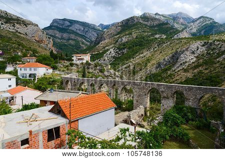 Aqueduct In The Mountains In Old Bar, Montenegro