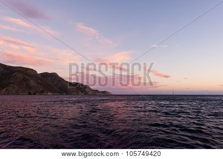The Sea And The Sky In The Evening