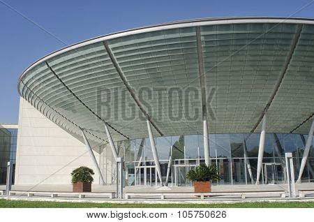 Modern Construction That Resembles A Ufo