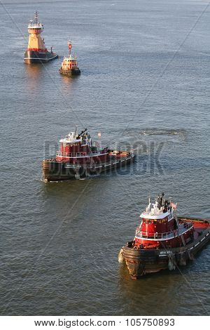 Tugboats In New York City