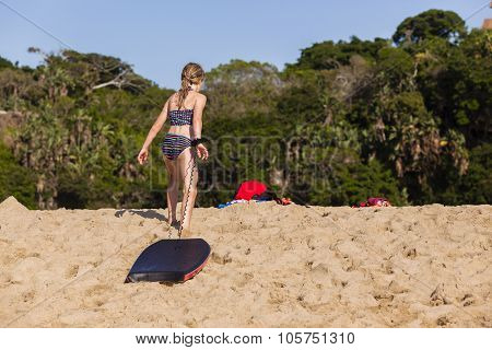 Girl Playtime Beach