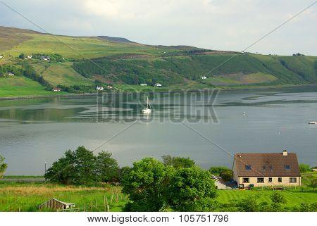Mountain Landscape On The Isle Of Skye In Scotland