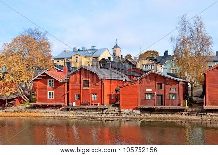 Porvoo. Finland. The Old Red Storage Buildings