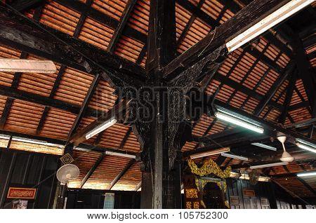 Architectural detail of Kampung Laut Mosque at Nilam Puri Kelantan, Malaysia