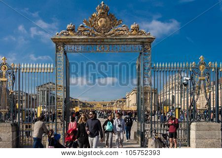 Entry To Versailles Castle.