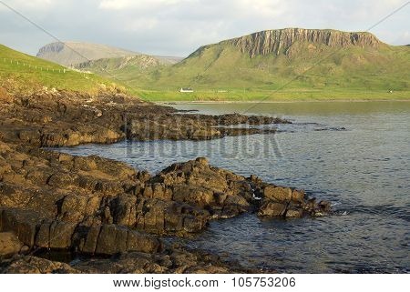 Mountain Landscape On The Isle Of Skye In Scotland