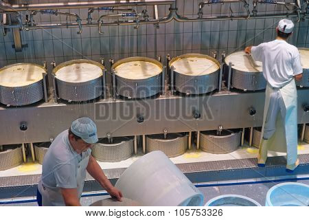 During The Process Of Production Of Gruyere Cheese