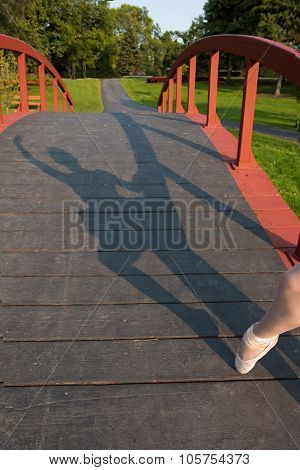 Shadow Of Ballerina In Park