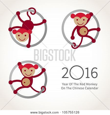 Monkey, Symbol Of 2016 In Chinese Calendar.