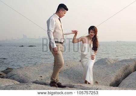 Pre Wedding Outdoor Romantic