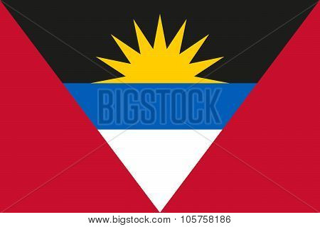 National Flag Of Antigua And Barbuda