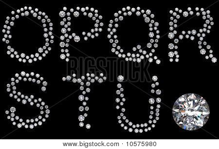 Diamond O-U Letters