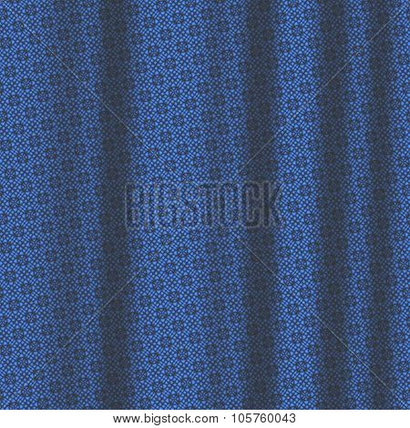 Blue Pattern Drapery Seamless Background Texture.
