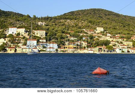 traditional houses in Ithaca Greece