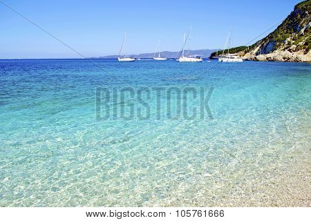 turquoise sea in Ithaca Greece
