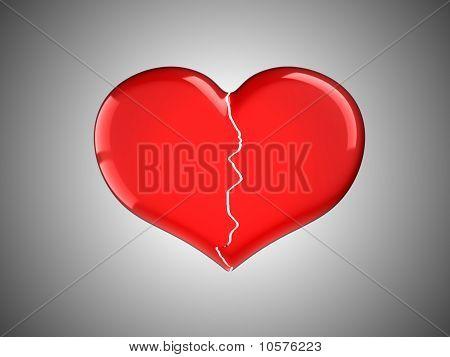 Lost Love. Red Broken Heart