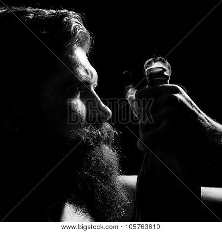 Man Holding Open Wine Bottle