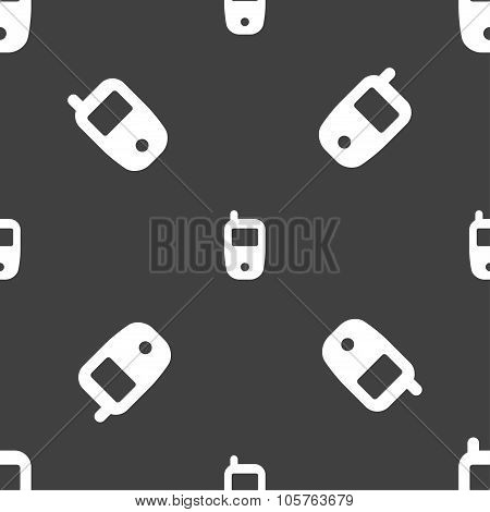 Mobile Telecommunications Technology Symbol. Seamless Pattern On A Gray Background. Vector