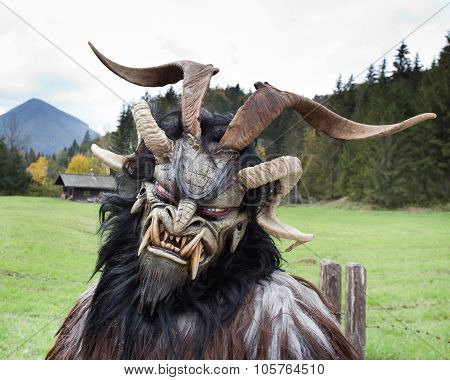 Alpine Traditional Krampus Mask