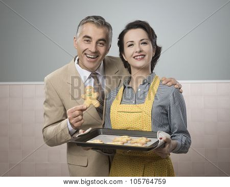 Old Timey Woman Serving Home Made Cookies