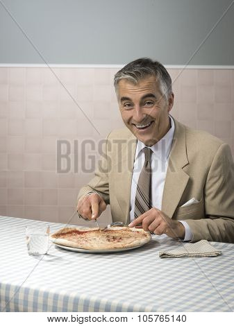 Businessman Having His Lunch Break