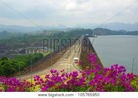 Surat Thani, Thailand - January 19, 2014: Ratchaprapha Dam In Khao Sok National Park