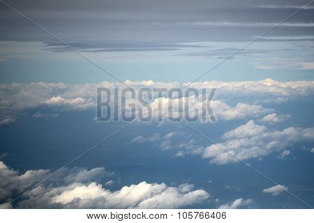 Skyline View Above Clouds