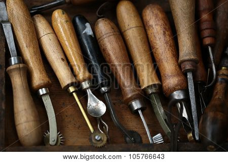 Set Of Old Hand Tools