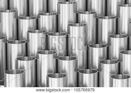Steel Shiny Pipes Industrial Background