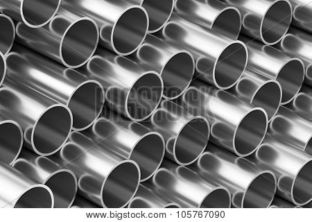 Shiny Steel Pipes Background