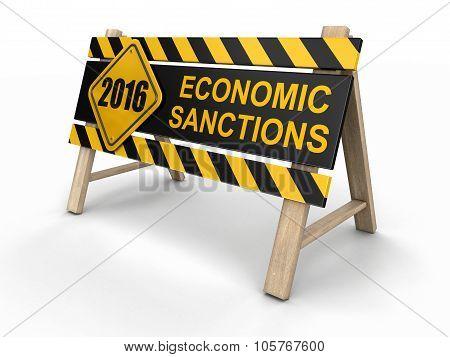 Economic sanctions sign