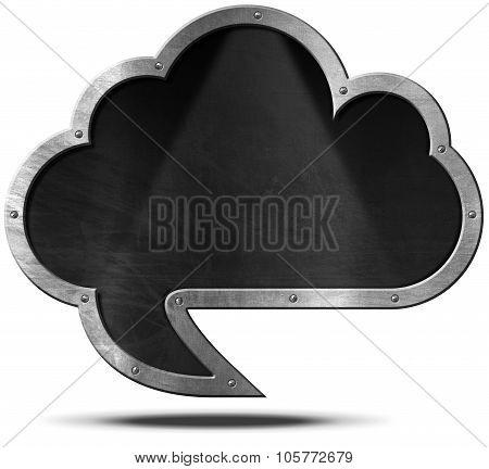 Cloud Blackboard - Speech Bubble Shaped
