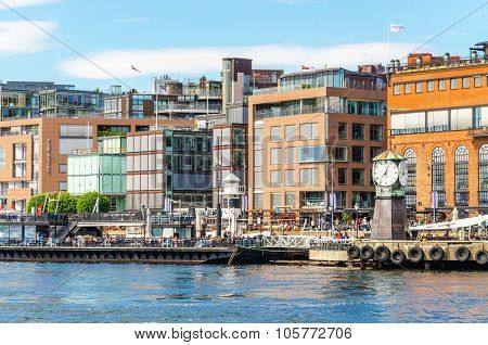Aker Brygge Dock - modern part of Oslo in Norway