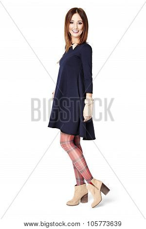 Cheerful Woman Looking At Camera