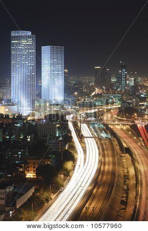 The Tel Aviv Skyline - Night City