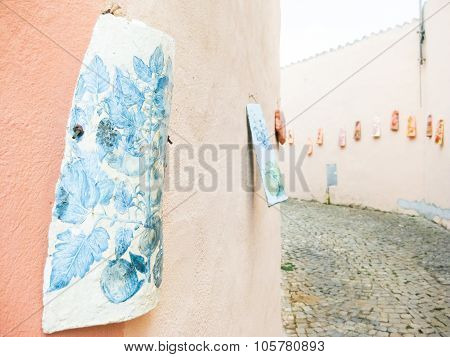 Painted Shingle On The Wall