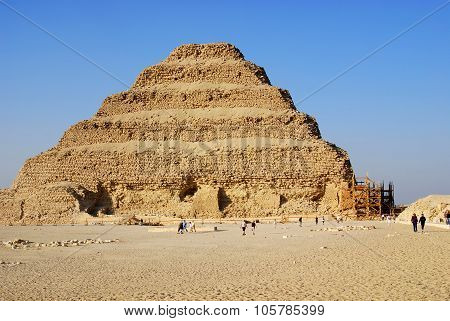 Ancient step pyramid in Saqqara