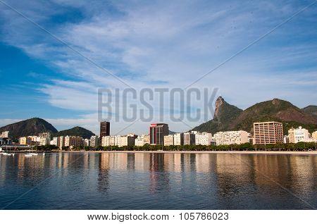 Rio de Janeiro Cityscape with Corcovado Mountain