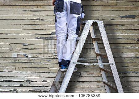 Man On Stepladders