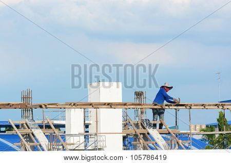 Worker working at construction site