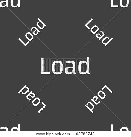 Download Now Icon. Load Symbol. Seamless Pattern On A Gray Background. Vector