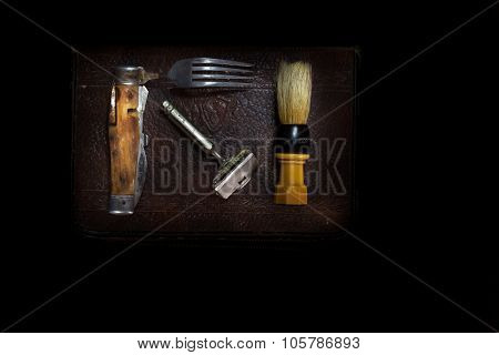Army World War II Shaving Kit