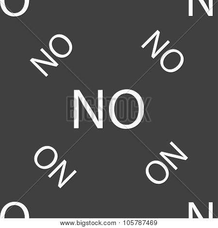 Norwegian Language Sign Icon. No Norway Translation Symbol. Seamless Pattern On A Gray Background. V