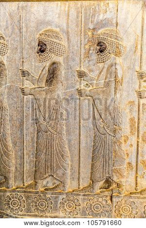 Immortals relief detail Persepolis