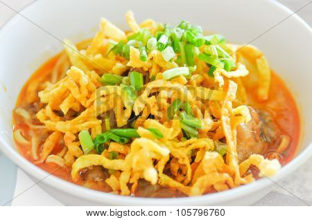 Khao Sawy ,northern Thai Noodle Curry Soup,noodle,khao Soy