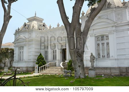 BARRANCO, PERU - OCTOBER 18, 2015: Pedro de Osma Museum. Opening in 1988, the museum in the suburbs of Lima is dedicated to preserving Peruvian viceregal artworks.