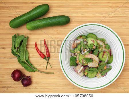 Thai Cucumber Salad With Shrimp